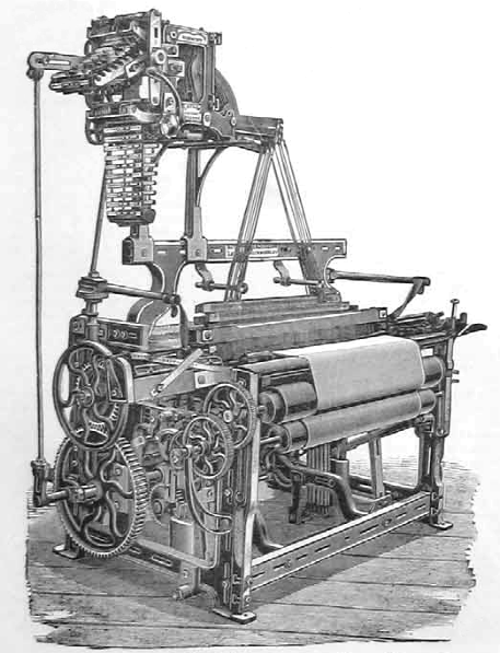 A power loom from the 1890s
