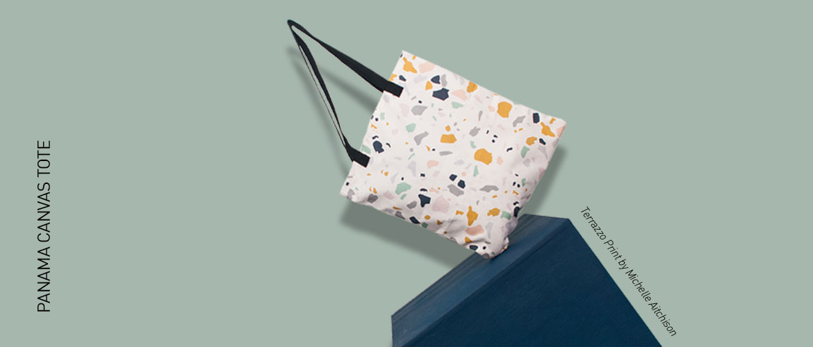 Panama Canvas Tote - print by Michelle Aitchison