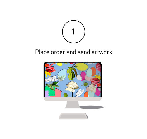 01: Send your designs with your Print Order